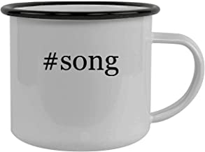 #song - Stainless Steel Hashtag 12oz Camping Mug, Black