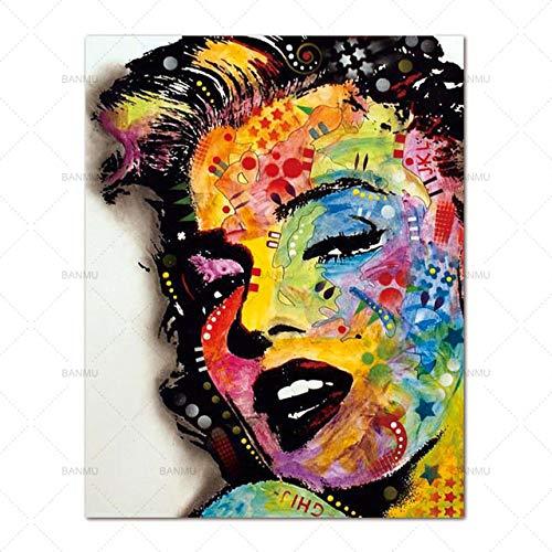 tzxdbh muurkunst afbeelding drukt schoonheid op canvas wooncultuur canvas schilderij muur poster decoratie voor woonkamer geen lijst WP0377 50 cm x 70 cm x 1 stuks.