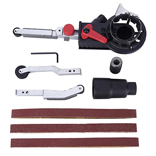 Grinder Belt Sander, Belt Sander Angle Grinder Accessories Aluminum Alloy Black 3-Working-Arm for 100-type Angle Grinders Matching 10mm Spindle