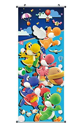 CoolChange Großes Yoshi's Crafted World Rollbild | Kakemono aus Stoff | Poster 100x40cm