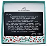 Wallet Card For Son. Gift For Son. Graduation Gift. Deployment Gift. Wallet Card. Custom Gifts. Personalized Gift. To Son From Mom