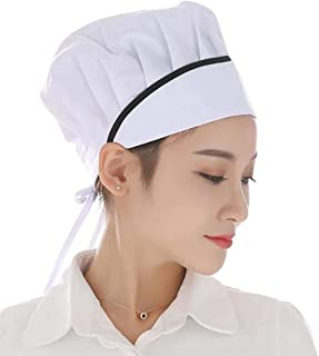 Nanxson 3pcs Chef Pastry Baker Kitchen Cooking Works Uniforms Chef Hat for Adults CF9032