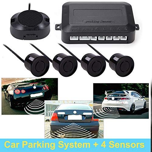 DHOUTDOORS Auto Einparkhilfe Parksensoren Rückfahrradar mit 4 Sensoren und Summer Schwarz