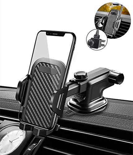 Kfz Handyhalterung [Upgrade 3.0 Sicherer Stabiler] Handy Autohalterung für Lüftungsschlitze Armaturenbrett Windschutzscheibe - Schnellverschluss kompatibel mit iPhone Samsung Huawei Google LG OnePlus