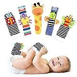 Sonajeros de Muñeca Bebe Sonajero de Pies y Manos Juguetes de Desarrollo Animal Lindo Calcetines Sonajero para 0-12 Meses Recién Nacido Niño Niñas (5pcs)
