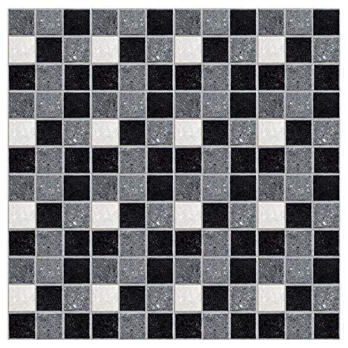 Kitchen-dream Mosaikfliesen Tapete Selbstklebende Mosaik-wandaufkleber für Badezimmer Küchen Toilette wasserdichte ölbeständige PVC Fliesen Tapeten für Hauptverzieren 10 * 10cm*19pcs