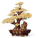 Ornamento de Escritorio Dinero árbol Bonsai Fengshui Gema Decoración for la riqueza y la suerte de piedras preciosas-árbol for la buena suerte, riqueza y prosperidad-Home Office Decor don espiritual a