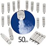 GQQG 50 Pcs Kit de Boquillas de Nebulización Boquillas de Niebla de Latón Alta Presión Rosca de 3/16' para Sistema de Nebulización Sistema de Enfriamiento Al Aire Libre Nebulizer del Agua del Jardín
