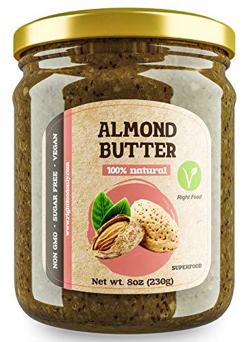 Mandelbutter 230 gr | Nussbutter ohne Zucker | Mandelaufstrich 100% Natürlich | Veganes Superfood | Low Carb Nussbutter | KETO