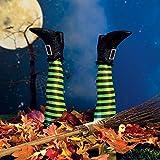 Upside Down Witch Legs Yard Stake - Halloween Yard Decor
