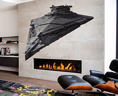 Imperial Star Destroyer Full Color Decal, Star Wars Full Color Sticker, Star Wars Color Decal, Star Wars Color Sticker, Star Destroyer Color Wall Art, Sticker Wall Art Decor Wall cn 072 (15x27)