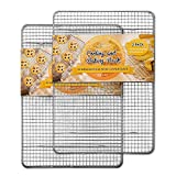Hiware 2-Pack Cooling Racks for Baking - 8.5' x 12' - Quarter Size - Stainless Steel Wire Cookie...