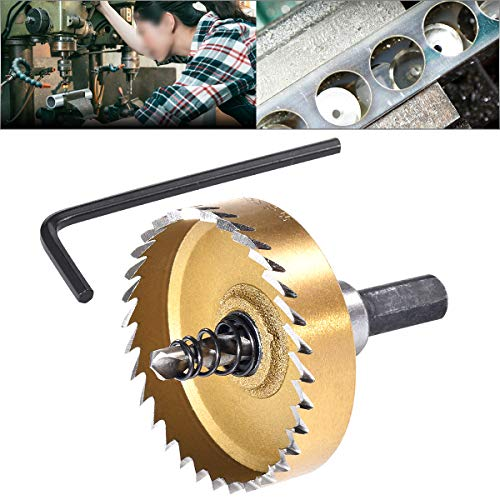 HOHXEN 55mm HSS Drill Bit Hole Saw,Stainless Steel Metal Opener Cutting Drill Bit(30-60) for Wood Alloy with L-Wrenches
