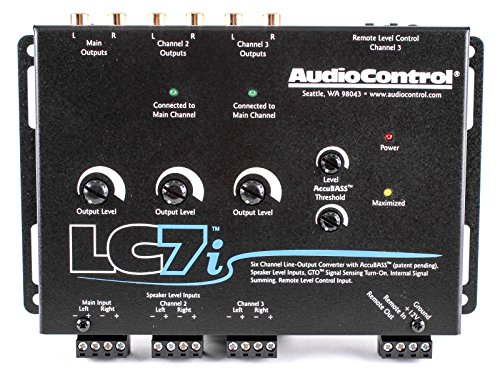 AudioControl LC7i - Black Six Channel Line Out Converter with AccuBASS & 5-year warranty!