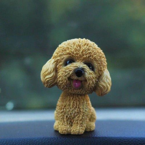 Fontee Auto Nette Nicken Schütteln Kopf Hund Puppe Verzierungen Auto Interieur Innendekoration Bobblehead Wackelkopf Dashboard Dekoration (Teddy)