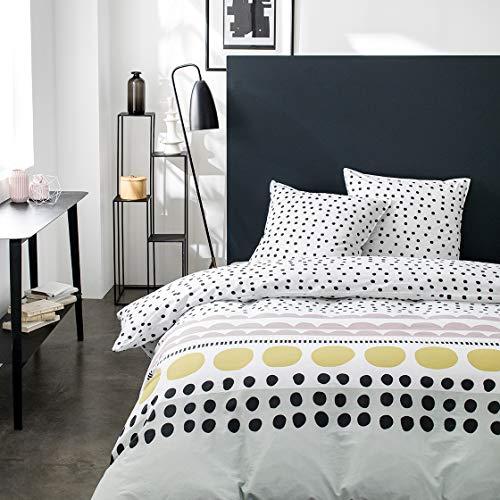 Today Parure de Lit 2 Personnes 240X260 Coton Imprime Blanc Graphique Sunshine 3.12