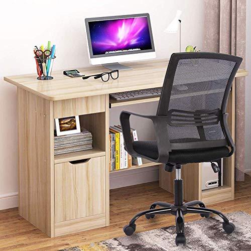 Smugdesk Mid-Back Ergonomic Office Lumbar Support Mesh Computer Desk Task Chair with Armrests