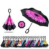 Sumeber Double Layer Reverse Regenschirm mit C Griff Schützen vor Sturm Wind Regen und UV-Strahlung...