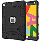 Grifobes iPad 7th Generation Case,iPad 10.2 2019 Case,Slim Heavy Duty Shockproof Rugged High Impact Protective Case for iPad 7th Generation 10.2 inch 2019 Release,Black