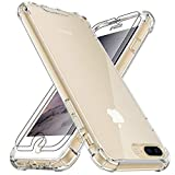 4youquality Case for iPhone 7 Plus and iPhone 8 Plus with [2-Pack] Tempered Glass Screen Protectors, Advanced Air Cushion Drop Protection, Shockproof Transparent Clear Bumper Phone Case Cover