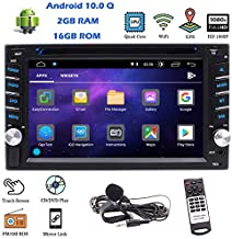 EinCar Double Din Car Stereo Car CD DVD Player Bluetooth Android 10.0 GPS Navigation Indash Head Unit with FM AM Radio Receiver Support WiFi Subwoofer Aux-in USB Mirror Link Steering Wheel Control