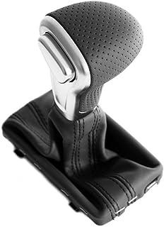 Rev/êtement original en cuir pour levier de vitesse de la gamme Audi ligne S Levier de vitesse S-Tronic automatique en aluminium dispositif de commande en noir et argent.