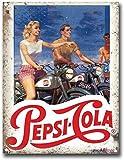TSOSK Retro Metallschild Pepsi Cola Motorcycles Schild