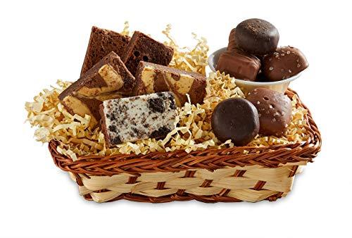 Bake Me A Wish Small Biz Snack Basket w/ Gourmet Brownies and Chocolates