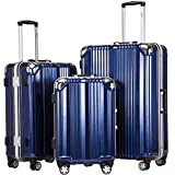 Coolife Luggage Aluminium Frame Suitcases