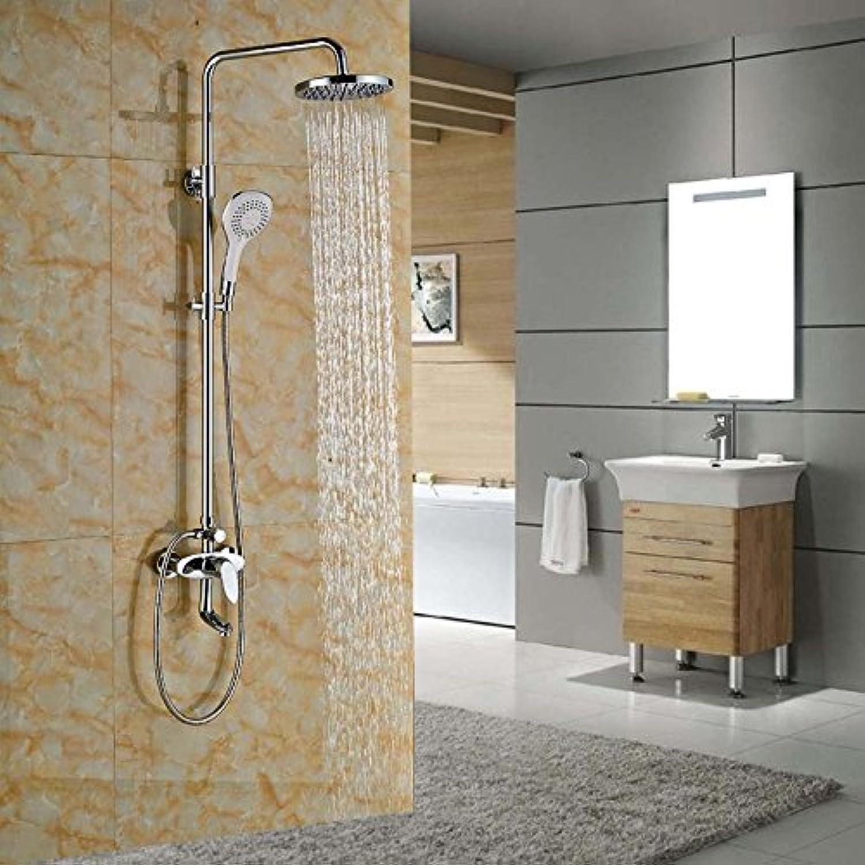 Galvanik Retro Wasserhahn Messing Chrom Niederschlag Wanne Dusche Wasserhahn Wandhalterung Badezimmer Dusche Mischbatterie Handdusche, Klar