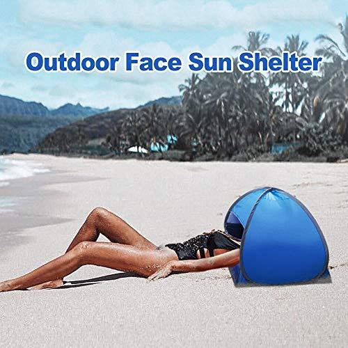 Zelte Strandmuschel Strandzelt Strandmuschel Pop Up Tragbare Kleine Markise Sommer Outdoor Beach Face Zelt Regenschirme Face Tent Leichter Sonnenschutz/Baldachin Uv-Schutz