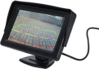 ZJJUN Electronics Video Audio Universal 4.3 inch Car High Definition Monitor with Adjustable Angle Holder, Support Reverse...