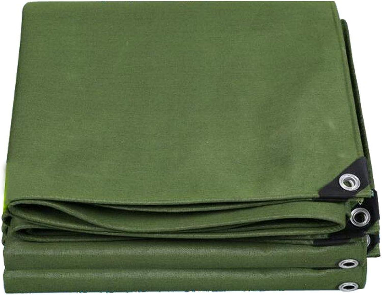 WSGZH Armee Grün Gepolsterte Leinwand Regen Tuch Multifunktionale Wasserdichte Sonnencreme Sonnenschutz Tuch LKW Plane 620g Pro Quadratmeter Dicke 0,76 MM