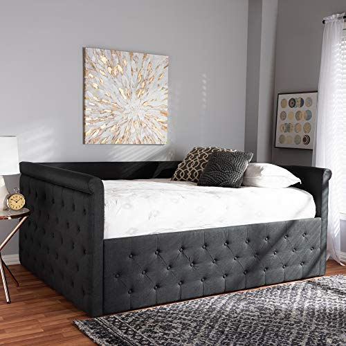 Baxton Studio Amaya Modern and Contemporary Fabric Upholstered Daybed