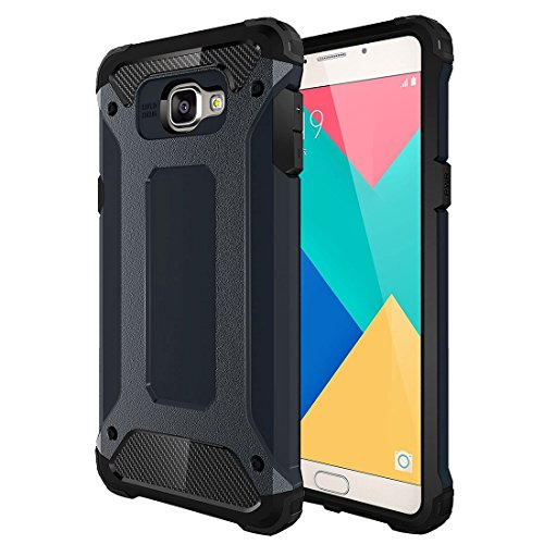 Anti-Fall Phone Case for Samsung Galaxy A9 / A900 Tough Armor TPU + PC Combination Case Protective Cover Wear Resistant Phone Cover (Color : Dark Blue)