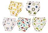 Ctskyte Unisex-Baby Toddler Potty 5 Pack Cotton Pee Training Underpants Boys Girls Potty Underwear 5 Pack 90 Dinosaur Mixed