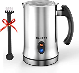 Milk Frother, Electric Milk Frother with Hot or Cold Functionality, Foam Maker, Silver Stainless Steel, Automatic Milk Frother and Warmer for Coffee, Cappuccino and Matcha (Electric Milk Frother)