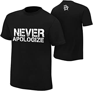 WWE AUTHENTIC WEAR Dean Ambrose Never Apologize T-Shirt Black 2XL