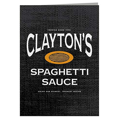 Claytons Spaghetti Saus Se7en wenskaart