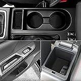 Subaru WRX Custom Doors - Auovo Anti Dust Door Mats for Subaru WRX 2015-2021 Interior Accessories Custom Fit Door Compartment Cup Center Console Liners(13pcs/Set) (Black)