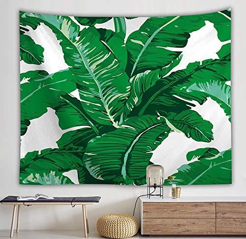 KHKJ Tapiz de Hojas Verdes 3D Planta Tropical Colgante de Pared Casa de Campo Decoración para el hogar Tapiz Mantel Colcha Tenture Alfombra A5 200x150cm
