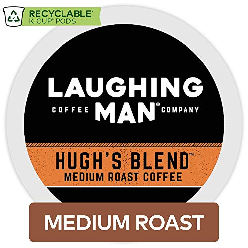 Laughing Man Hugh's Blend Keurig Single-Serve K-Cup Pods, Medium Roast Coffee, 60 Count