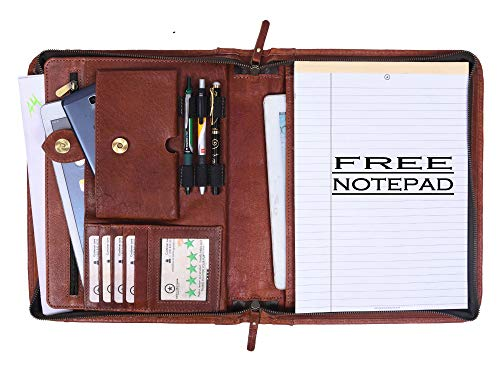 Premium Genuine Leather Business Portfolio and Professional Organizer