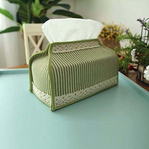 jingjing Green Strip Tissus Pastoral Tissus Tissus de Salon