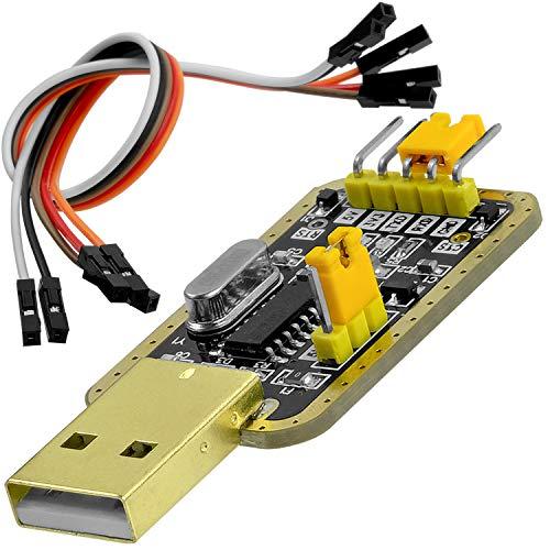 AZDelivery UART-TTL USB Adapter mit CH340G Konverter für 3.3V und 5V mit Jumperkabel und inklusive E-Book!