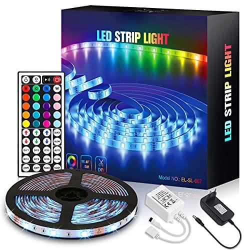Tira LED 5M , Tiras de Luces LED RGB 5050 8 Modo...