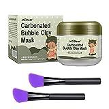 Máscara de Arcilla, HailiCare Máscara de Barro Burbujas Carbonato Bubble Clay Mask Hidratante Limpieza Profunda Cuidado de la Piel 100g