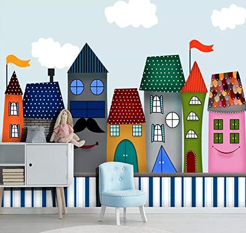 Suwhao Cartoon Castle Gebruikergedefinieerde 3D-fotobehang voor kinderkamer, kleuterschool, babykamer, slaapkamer, muur, wooncultuur, papier, peint, muurschildering 3D 400x280cm