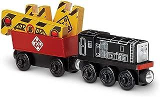 Thomas & Friends Diesel, Cargo Car and Hazard Sign (James Sorts it Out BMF72) Wooden Railway Tank Train Engine - SKU # DGK78