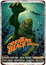 NNHG Tin Sign 8x12 inches Creature from The Black Lagoon Movie Poster Reproduction Decorative Metal Signs